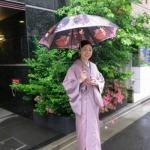 雨の日の着物のコートや草履